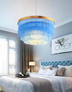 Kreative Nordic Modern Chandelier Lichter Wohnzimmer Schlafzimmer Einfache Persönlichkeit Farbe Runde Quaste Pendelleuchte Villa Esszimmer Beleuchtung