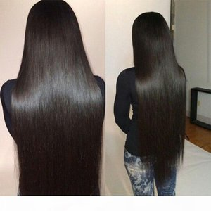 Brasileño recto velo virgen tejido 4 paquetes 100% sin procesar Brasileño Human Hair Extension Vendors 100g PCS Longitud de mezcla 16-30 pulgadas