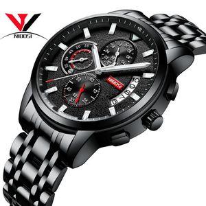 NIBOSI Steel Watch Men 2020 Men Sports Watches Waterproof With Calendar Relogio Masculino Esportivo Saat