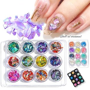 Mixed Color Nail Art Decorations Shiny Shell Pieces Irregular Sequins Nail Art Sticker Set Sexy Luxury Sliders For Nails Polish