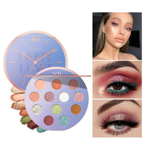 12 Colors Eyeshadow Shining Pearlescent Pallete Eye Shadow Waterproof Pigment Palette Portable For Dating Party