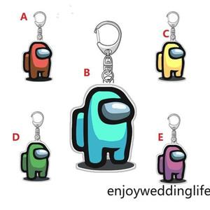 200pcs 5 styles jeux chauds parmi les collexions colorées CLYCHAIN US Porte-clés colorés d'Acrylique pour clés de voiture Décoration Accessoires 5cm * 3cm Air11 FY7332