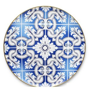 Modern Bone China Dinner Ware Gold Rim Tableware Sets Western Ceramic Wedding Pl jllsMf powerstore2012