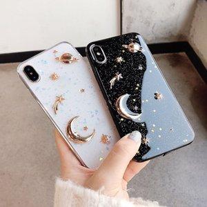 Лунная планета эпоксидный чехол для телефона для iPhone 12/11 Pro TPU Anti-Drop Case CaseFor XR iPhone7 / 8plus защитная крышка