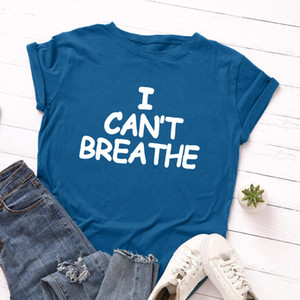I cant breathe summer womens designer T shirt letter printing womens clothes sleeves short sleeved T shirt womens designer clothing S-5XL