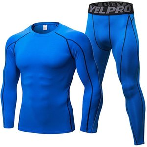 Men Clothing Sportswear Gym Fitness Compression Suits Running Set Sport Outdoor Jogging Quick Dry Tight Long Pants