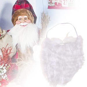 Christmas Fans Adult Child Cosplay White Beard Santa Claus Hat For White Christmas Wig Beard Party Decor