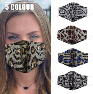 Bling Bling Sequins Protective Mask PM2.5 Dustproof Mouth Cover Washable Face Masks fashion bar dance Earloop cotton Cycling Mask