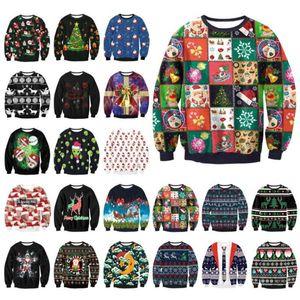 2020 Suéter feo de la Navidad Pullover suéteres Puentes Tops Hombres Mujeres Otoño ropa de invierno divertido 3d impresos Hoodies