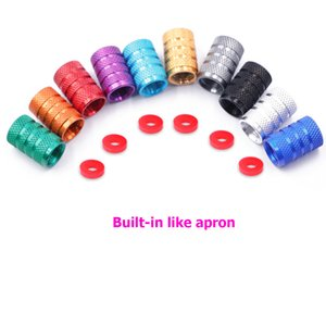 4PC  1PC Universal Dustproof Aluminium Alloy Bicycle Cap Wheel Tire Covered Car Truck Tube Tyre Bike Accessories 10 Colors