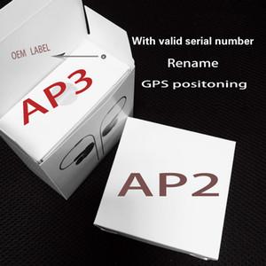 2020 Ultima cuffia AP3 PRO H1 Chip Chip Rinominato Auricolare 2a 3a generazione Auricolari Bluetooth wireless con GPS