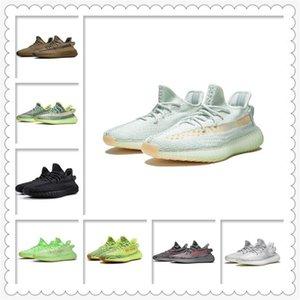 Мужская женская спортивная обувь 2021 Kanye West Ash-синяя обувь известный лучший бренд света Светоотражающие повседневные спортивные кроссовки кофе размер обуви 36-48