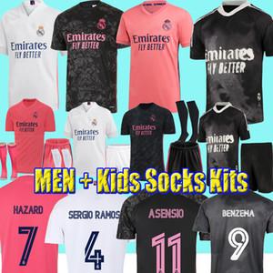 20 21 Camisetas del Real Madrid Fans Jugador HRFC BENZEMA Hazard Isco VINICIUS ASENSIO Ramos Modric Human Race camisetas de fútbol hombres niños kit uniforme