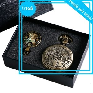 "Quartz Pocket Watch with theme ""doctor who"" is the symbolic design Pendant Gift box of old packaging"