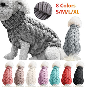 Winter Small Clothes Puppy For Pet Knitting Crochet Cloth Christmas Dog Sweater Decoration Y200922