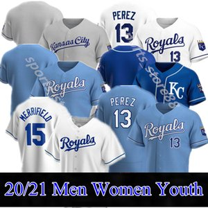 2020 مخصص جاكسون جيرسي خورخي سولير ويت Merrifield هنتر Danny Duffy Duffy Adalberto Mondesi Nicky O'Hearn Royals Baseball Jersey