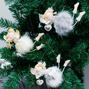 Christmas Flying Plush Angel Dolls Hanging Ornaments Christmas Tree Pendant Xmas Decoration Supplies New Year Gifts Kids Toys