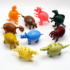 10 Pcs lot Kawaii The deformation of Dinosaur mammoth skeletons leopard Animal eggs models Action Toy Figures kid gift Y1127