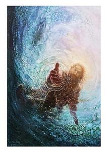 5 Yongsung Kim HAND OF GOD SAVE ME Art HD Cavnas Print of Jesus Christ High Quality Home Decor Wall art oil painting On canvas