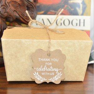 50pcs / lot هدية عيد الميلاد التفاف علامة حبل الديكور شكرا لك بطاقة هدية بطاقة مجوهرات عيد الميلاد بطاقة التعبئة والتغليف DHE3383