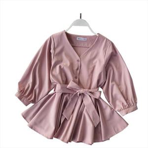 Peplum Top Korean Fashion Clothing V Neck Blouse Ruffle Shirt Womens Tops And Blouses 2019 Spring Boho Kawaii Clothes Blusas New
