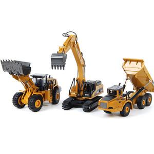 HUINA Alaşım Diecast Ekskavatör 1:50 Mühendislik İnşaat Modeli Buldozer Metal Kamyon Boys Doğum Günü Hediyesi Oyuncak Arabalar için 01