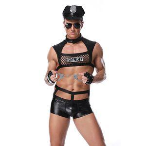 Costumi calda erotica Stile Ufficiale Cosplay Fancy Cops Intimo Uomini Halloween Uniformi Cop polizia Clubwear