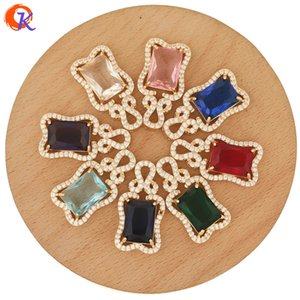 Cordial Design 20Pcs 17*31MM Jewelry Accessories CZ Charms Hand Made DIY Making Jewelry Connectors Crystal Pendant For Necklaces F1202