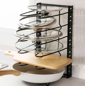 Pan Rack Holder Regolabile Cucina Scaffale per stoccaggio Rack di stoccaggio Tagliere Covers 5 Liveatori Racks Organizzatore Utensili da cucina Utensili da cucina YYB4099