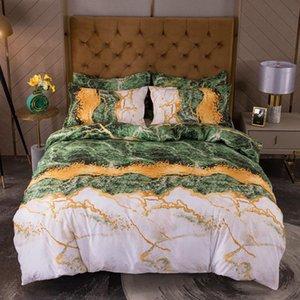 Bonenjoy Biancheria da letto in marmo reattivo stampato piumino stampato e federa per letto singolo delet 2 personnes
