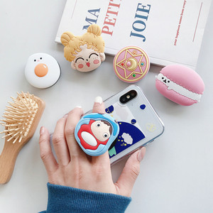 Cute Sailor Moon Folding Stand Mobile 3D Cartoon Grip Finger Holder iphone 11 For Huawei Phone Case