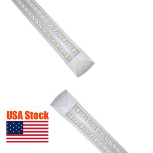 NEW V-Shaped Integrate T8 LED Tube 2 4 5 6 8 Feet LED Fluorescent Lamp 144W 8ft 6rows LED Light Tubes