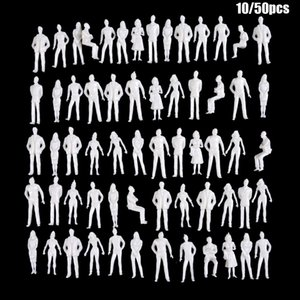 10 50Pcs 1:50 75 100 150 200 Scale Model White Miniature Figures Architectural Models Human Scale Model ABS Plastic Peoples