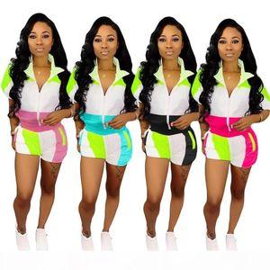 women short sleeve tracksuit jacket shorts sportswear hoodie legging 2 piece set sweat suit outerwear tights outfits sweat suit hot0717