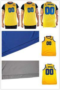 MEN WOMEN custom any name any number KIDS YOUNTH custom XXS-6XL Cole Brown yellow 00 shirts shirt Basketball Jersey