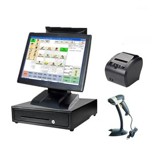 A Set all in one 15 inch LED LCD touch screen terminal with 80mm printer barcode scanner cash drawer1