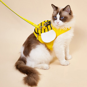 Tank top dog leash pet chest strap small dog medium dog cat breathable walking leash