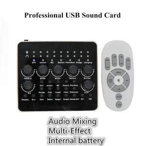 PROFESSIONNEL USB Live Sound Card Plan Play Play USB Audio Interface externe PC PC Téléphone Card pour l'enregistrement Guitare de microphone