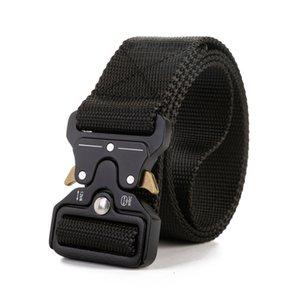 Tactical Belts Nylon Waist Belt with Metal Buckle Adjustable Heavy Duty Training Waist Belt Hunting Accessories