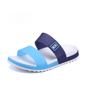 45 zapatillas para hombres nuevas rayas casuales sandalias de verano moda hombres clásicos flip flops caliente suave playa zapatos masculina moda outdor zapatos1