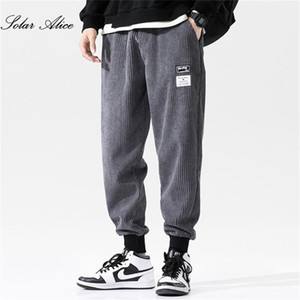 Free Shipping 2020 Men's Fall Winter New Mid-Waist Corduroy Casual Pants Plus Fat Plus Size Loose-Fitting Harem Pants