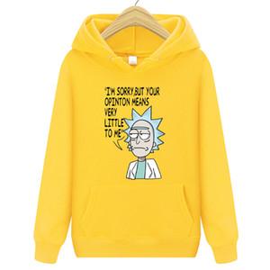 Hoodies Hot Hop Hip Hop Marca Hoodies Casual Suéter Com Alta Qualidade Rick Morty Imprimir Sweatshirts Masculino Moda Hoodie Y1112