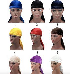 High Quality Du-rag Hiphop Caps for Men and Women velvet winter warmer durag turbans multicolor caps fashion turbano