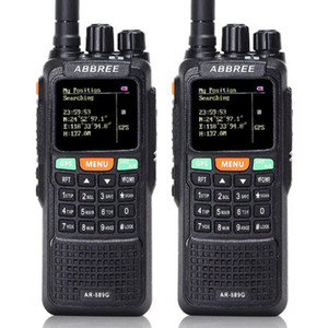 2Pcs Abbree AR-889G Walkie Talkie GPS 10W High Power Cross Band 400-520 134-174MHz Dual Band 10km Hunting Two Way Radio