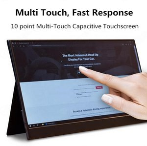 Full HD LCD monitor 15.6 inch portable gaming display with 4K Type C USB HDMI for phone PC laptop