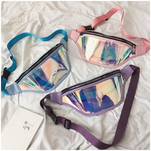 Fashion Designer Fanny Pack Women Laser Iridescence Crossbody Chest Bags Shoulder Bag Zipper Waist Belt Bags Travel Sports Messager Bags