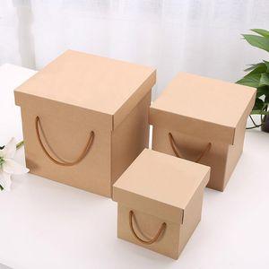 Kraft Paper Wedding Bridesmaid Xmas Gift Box Wedding Candy Box Exquisite Bag Empty Gift Souvenir Tote Bag Toy Storage
