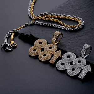 88rising Rich Chigga Singer Hip Hop Inlaid With Diamond Pendants Digital Man Necklace