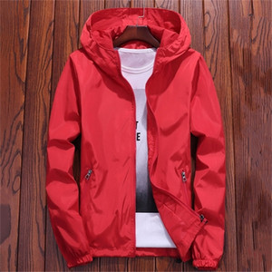 Jacket Women Red 7 Colors 7XL Plus Size Loose Hooded Waterproof Coat 2019 New Autumn Fashion Lady Men Couple Chic Clothing LR22 Q1119