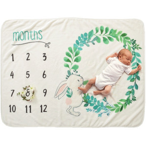 11 Styles Ins Kids Wing Letter Print Blankets Photography Background Props Infant Swaddling Flower Digital Newborn Baby Wraps 70*102Cm M3121